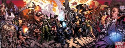 Heroes and Villains - X-Men #200 Panoramic Poster - Vampire Rave.