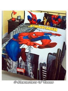 Heroes And Villains Spider Man Bedding Quilt Cover Set Double Vampire Rave